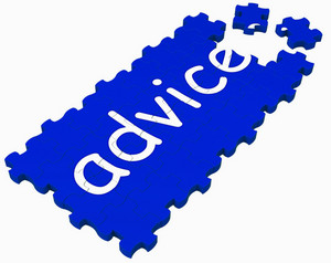 Advice Puzzle Shows Assistance And Guidance