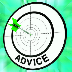 Advice Target Shows Information Faq And Assistance