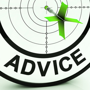 Advice Target Shows Knowledge Support And Help