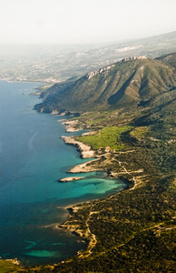Aerial View Of Mediterranean Coastline