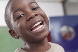 African boy laughing