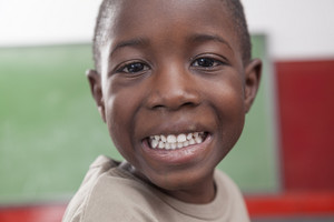 African boy smiling