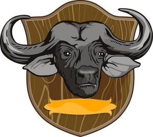 African Buffalo Retro