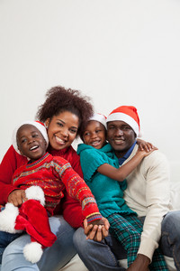 African family together for christmas