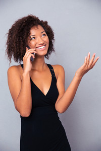 Afro american woman talking on the phone