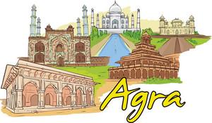 Agra Vector Doodle
