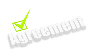 Agreement 3d Text