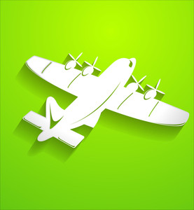 Air Plane Vector Shape