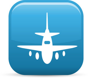 Air Travel Elements Glossy Icon