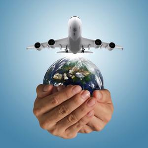 Airbus Plane And Globe