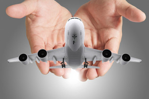 Airbus Plane In Hands