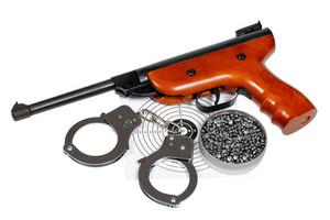 Airgun With Handcuffs