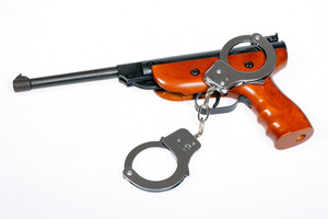 Airgun With Handcuffs