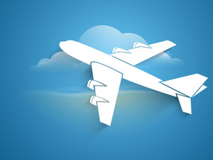 Airplain Takeoff Vector Illustration