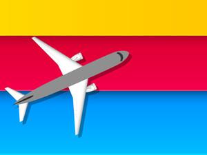 Airplain Takeoff Vector Illustration