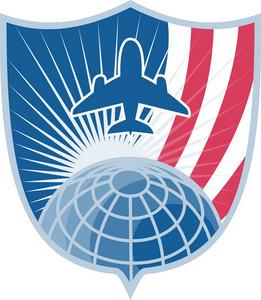 Airplane Jet Plane World Shield