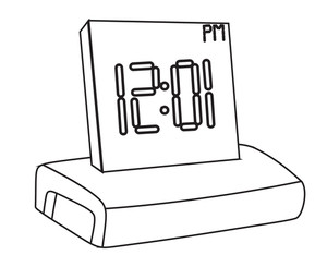Alarm Clock Drawing