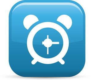 Alarm Clock Elements Glossy Icon