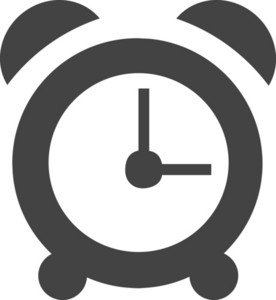 Alarm Clock Glyph Icon