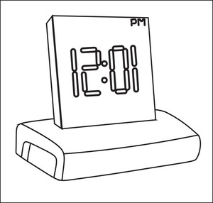 Alarm Clock Vector Drawing
