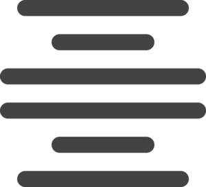 Align Center Glyph Icon