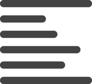 Align Left 1 Glyph Icon