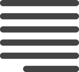 Align Right 2 Glyph Icon