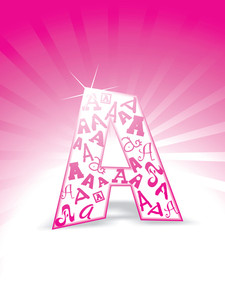 Alphabet Isolated On The Pink Background