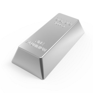 Aluminium Ingot Isolated On White.