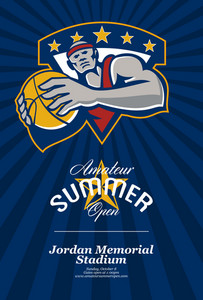 Amateur Summer Basketball League Open Poster