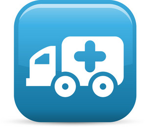 Ambulance Elements Glossy Icon