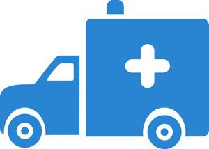 Ambulance Truck Simplicity Icon
