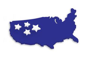 America 3d Map
