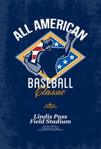 American Baseball Classic Retro Poster