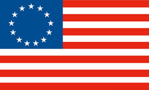 American Betsy Ross Stars And Stripes Flag