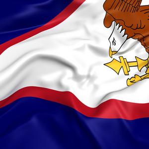 American Flag Hanging