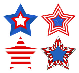 American Flag Style Patriotic Usa Stars Vector