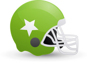 American Football Helmet Green Lite Sports Icon