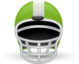 American Football Helmet Lite Sports Icon