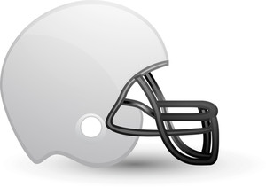 American Football Helmet White Lite Sports Icon