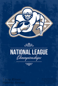 American Football National League Championship Poster