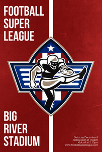 American Football Placekicker Super League Poster Art