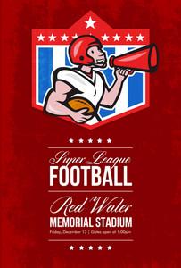 American Football Quarterback Bullhorn Poster Art
