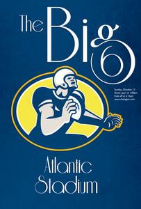 American Football Quarterback Retro Poster Art