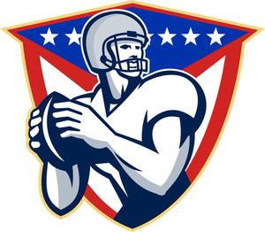 American Football Quarterback Throw Ball