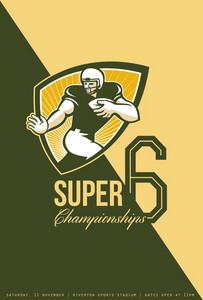 American Football Super 6 Championship Poster