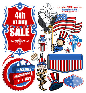 American Freedom Celebration Vector Set