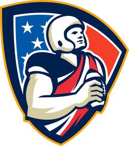American Gridiron Quarterback Ball Crest