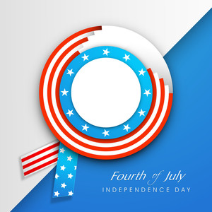 American Independence Day Background With Badge