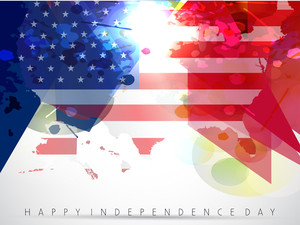 American Independence Day Vector Background.